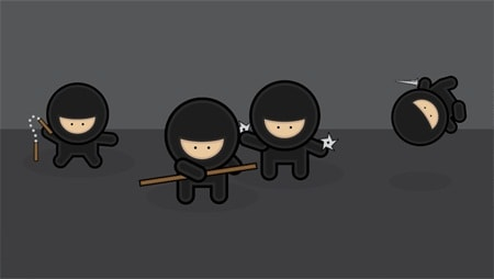 Illustrator Tutorial – Create a Gang of Vector Ninjas
