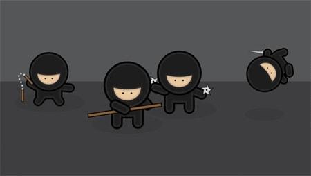 Illustrator Tutorial – Create a Gang of Vector Ninjas