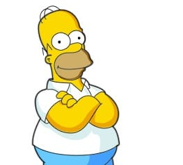Drawing Homer Simpson