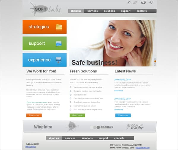 Business Website Created with MotoCMS HTML Template