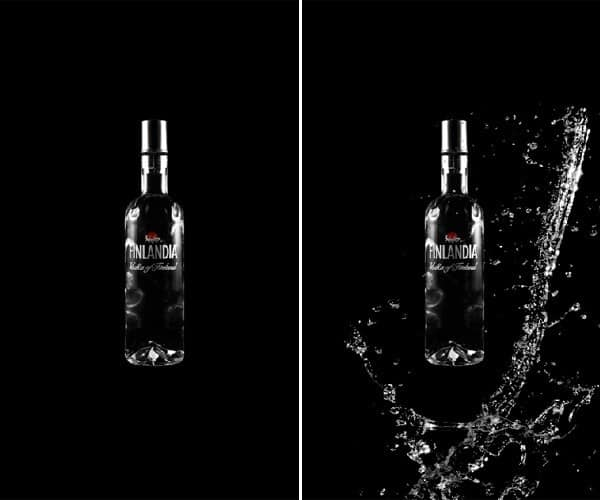 Water effect on product Photoshop tutorial