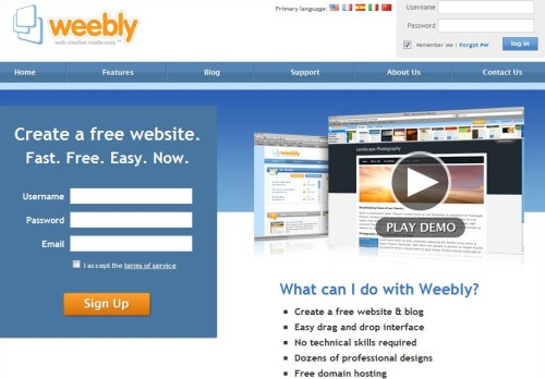 how to create a bilingual website weebly
