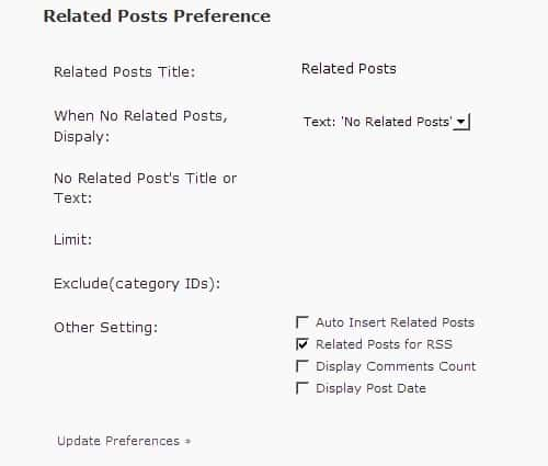 WordPress Related Posts Plugin